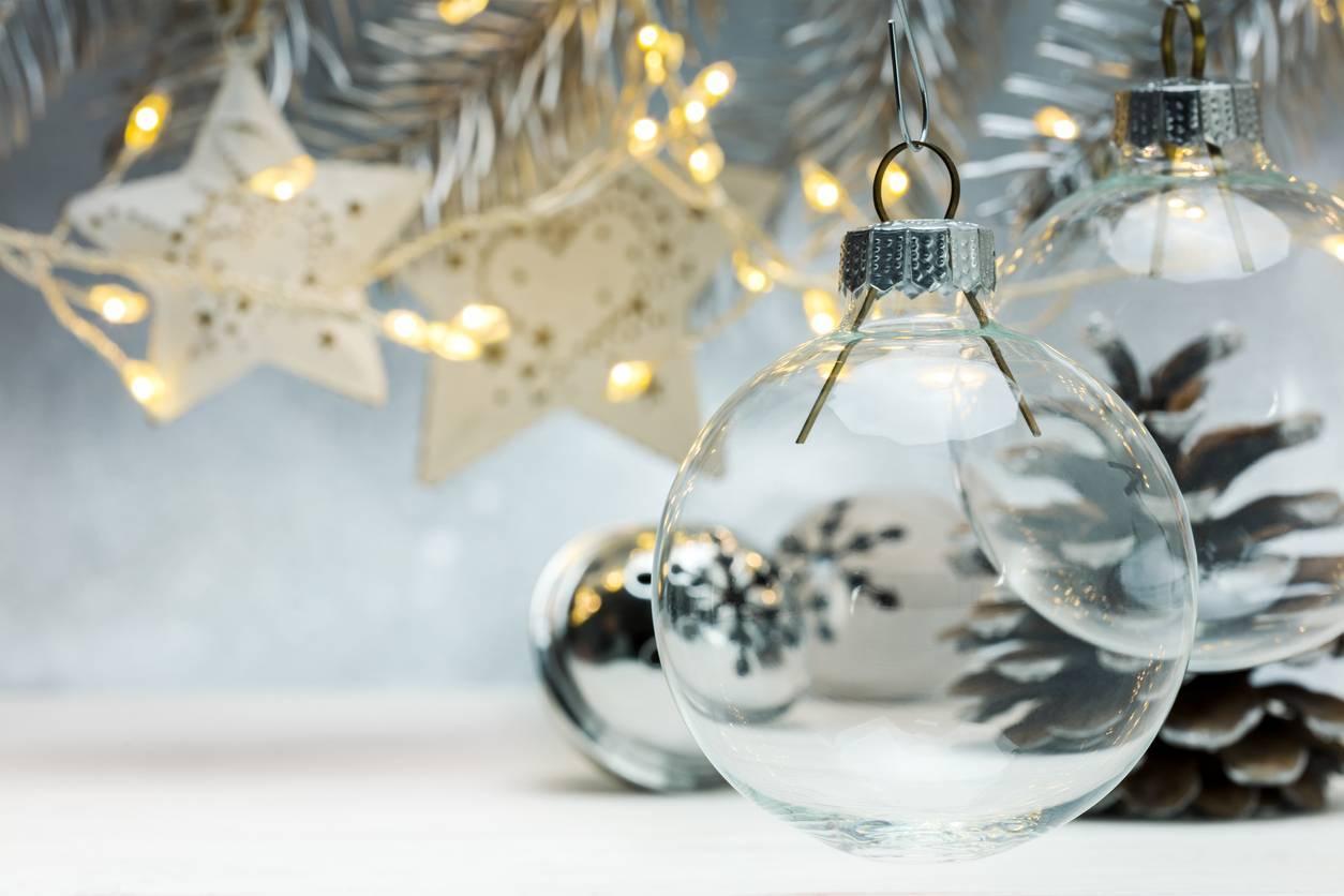 boule Noël transparente